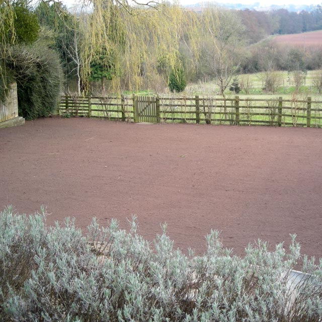 Example of the new planting style at Chew Magna, near Bristol, Somerset: garden before it was redesigned